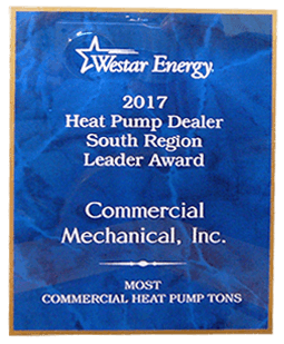 Westar Energy Heat Pump Dealer Award 2017