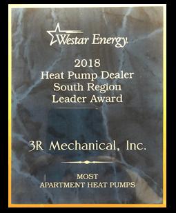 Westar Energy Heat Pump Dealer Award 2018 Apartments
